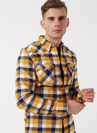 Lee&Wrangler Lee L643NVLG Sarı Erkek Gömlek Sarı